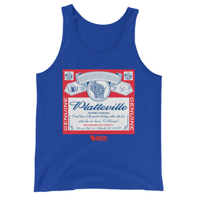 Platteville: Homecoming - King of Parties Tank Top