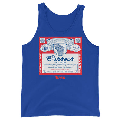 Oshkosh: Fall Pub Crawl - King of Parties Tank Top