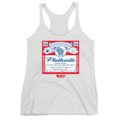 Platteville: Homecoming - King of Parties Racerback Tank