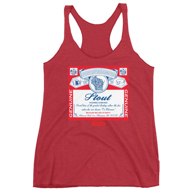 Stout: Homecoming - King of Parties Racerback Tank