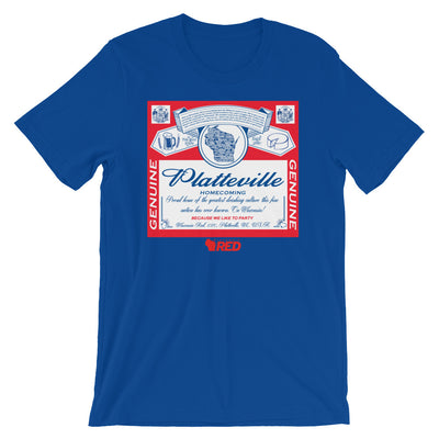 Platteville: Homecoming - King of Parties T-Shirt
