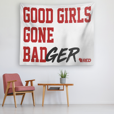 Good Girls Gone Badger Tapestry
