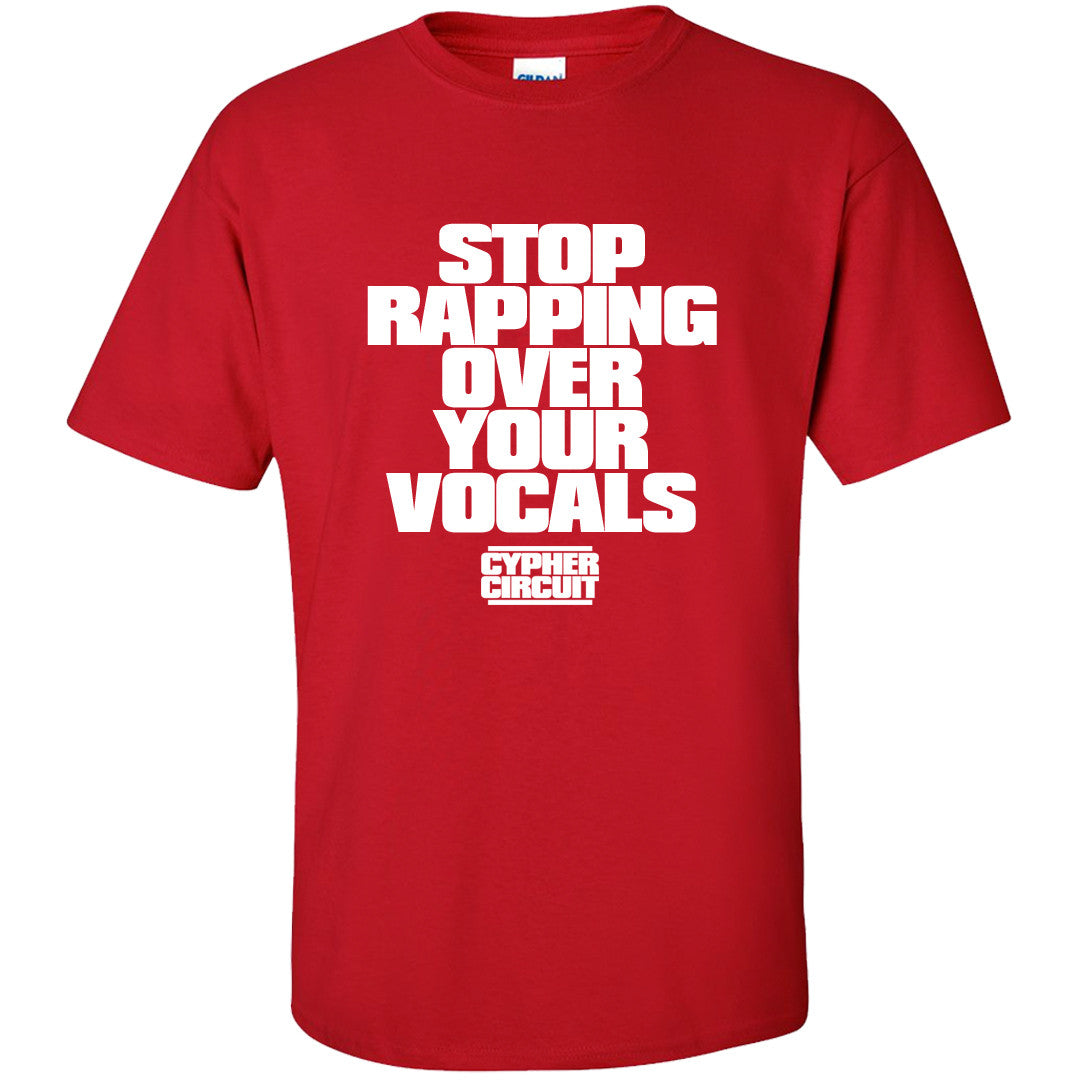 Cypher Circuit Stop Rapping T Shirt Wisconsin Red