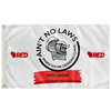 """Ain't No Laws"" Wisco Wave Flag (RED)"