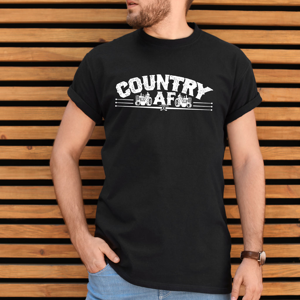 Country AF unisex t-shirt, birthday, Christmas, NASCAR, country music, farm gift