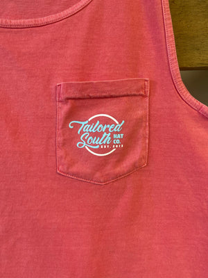 """Anchored in the South"" Watermelon Pocket Tank"