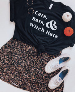 preorder: Cats, Bats, and Witch Hats Tee