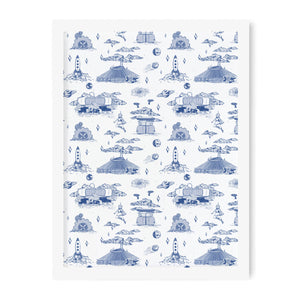 Tomorrowland French Toile Art Print