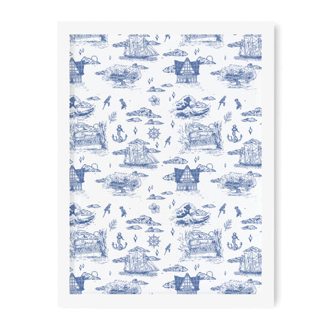 Adventureland French Toile Art Print