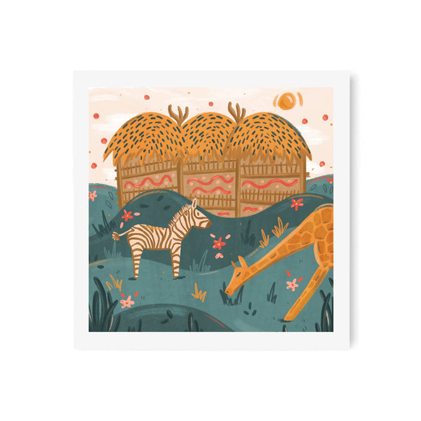 Animal Lodge Art Print