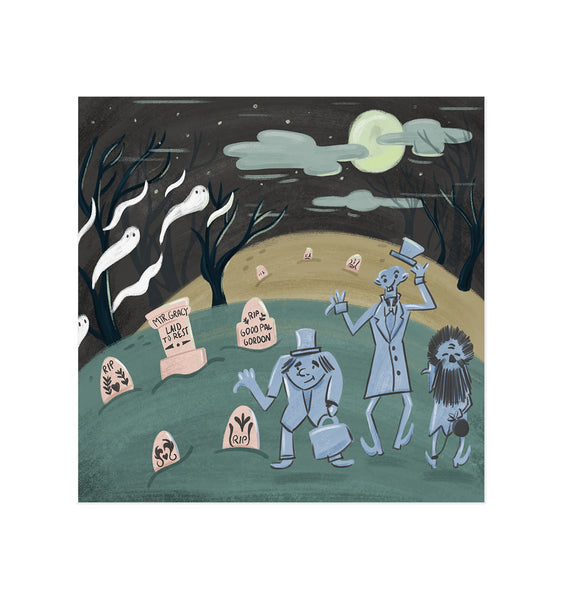 Haunted Art Print