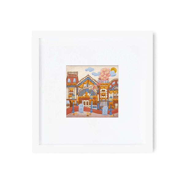 White Square Wood Frame