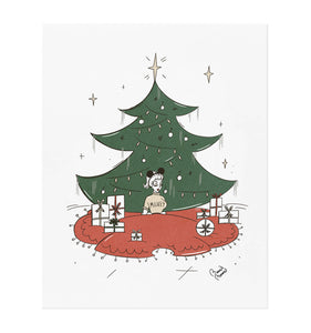 Tree Skirt Dapper Mickey Art Print