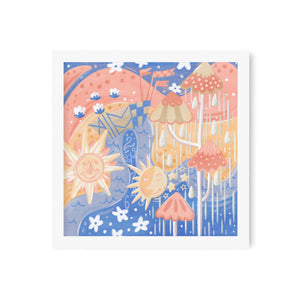 Pastel Small World Art Print