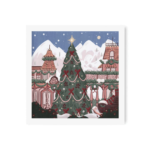 Holiday Main Street Art Print