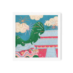 Mulan Celebration Art Print