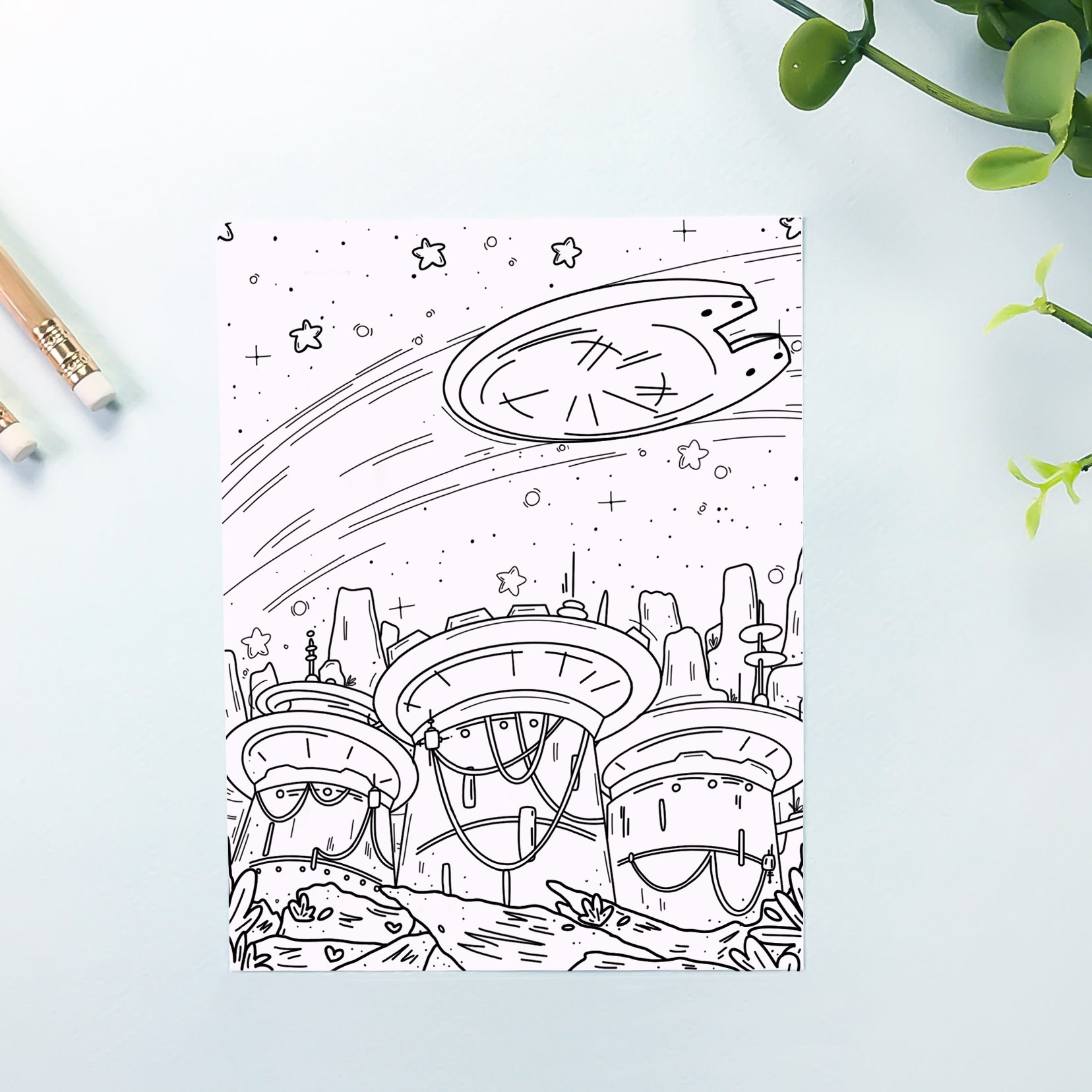 Galaxy Coloring Sheet