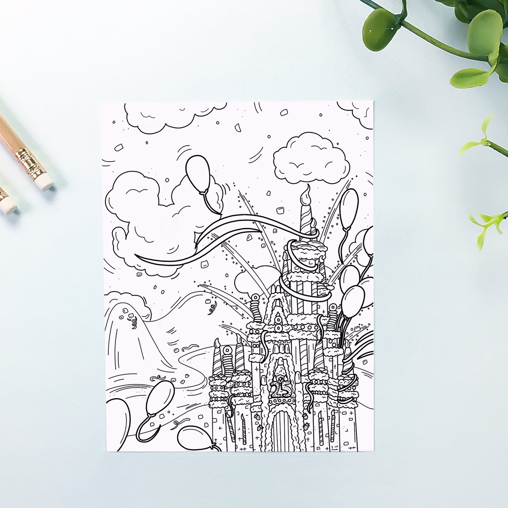 Cake Castle Coloring Sheet