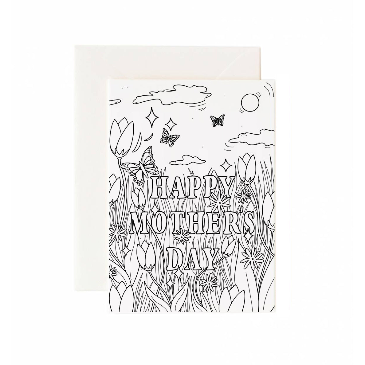 Mother's Day Greeting Card Coloring Sheet