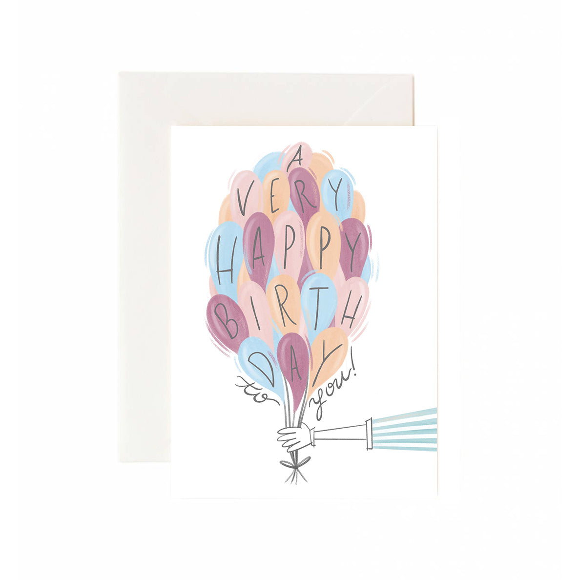 Happy Birthday Main Street Balloon Greeting Card