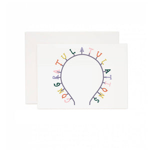 Congrats Headband Greeting Card