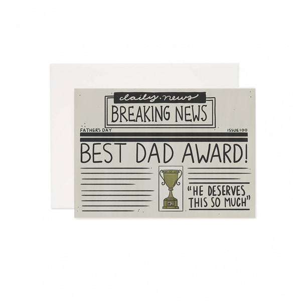 Best Dad Award Greeting Card