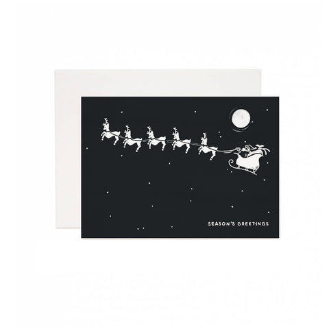 Season's Greetings Santa Holiday Greeting Card
