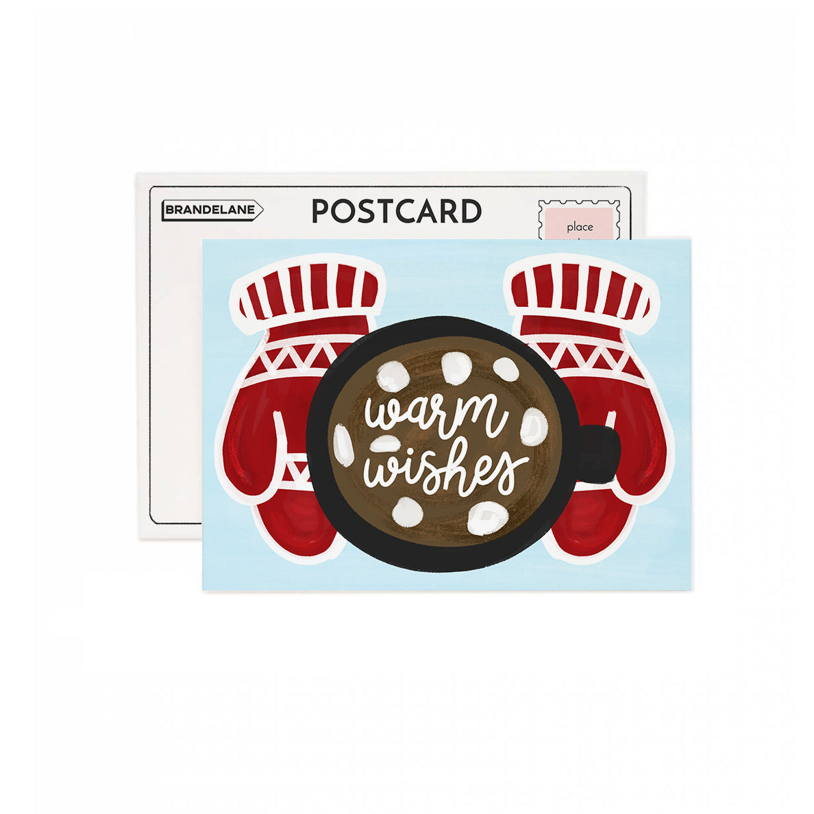 Warm Wishes Mitten Post Card