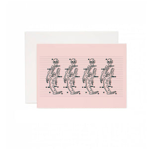Skeleton Dance Greeting Card