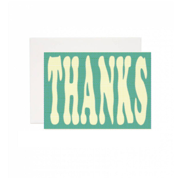Distorted Thank You Greeting Card
