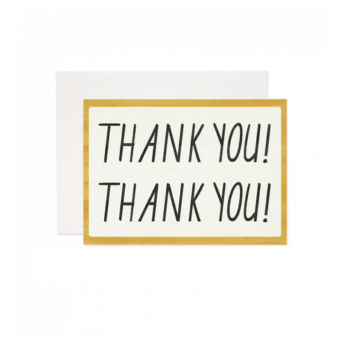Strong Thank You Greeting Card