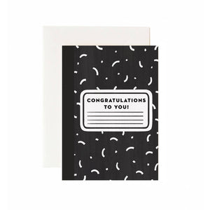 Composition Congrats Greeting Card