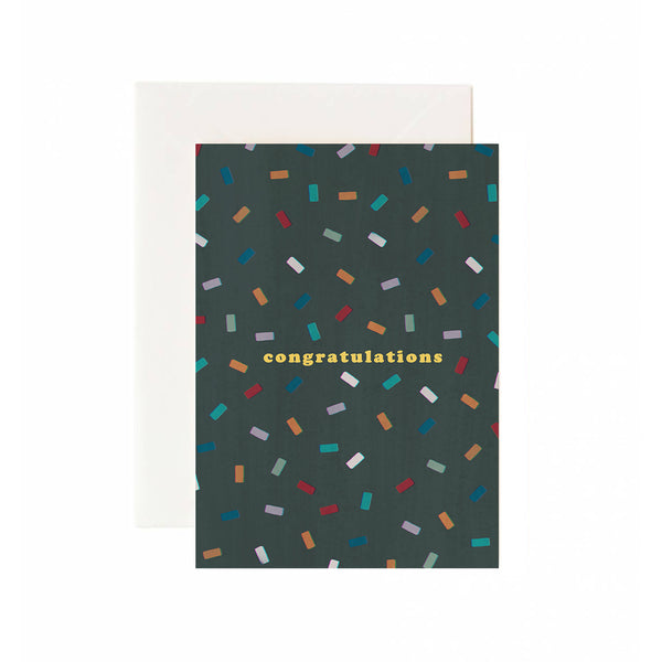 Congrats Confetti Greeting Card