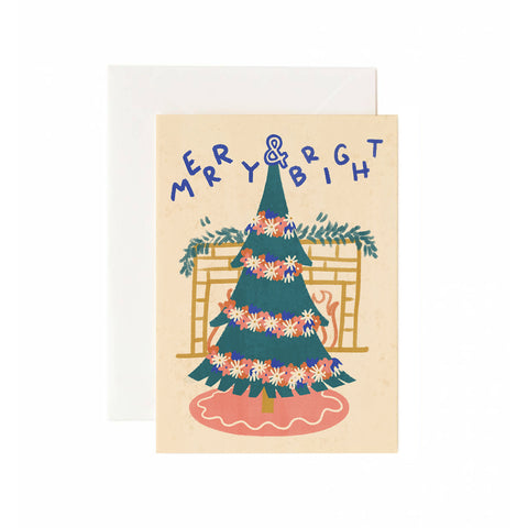 Flower Tree Holiday Card