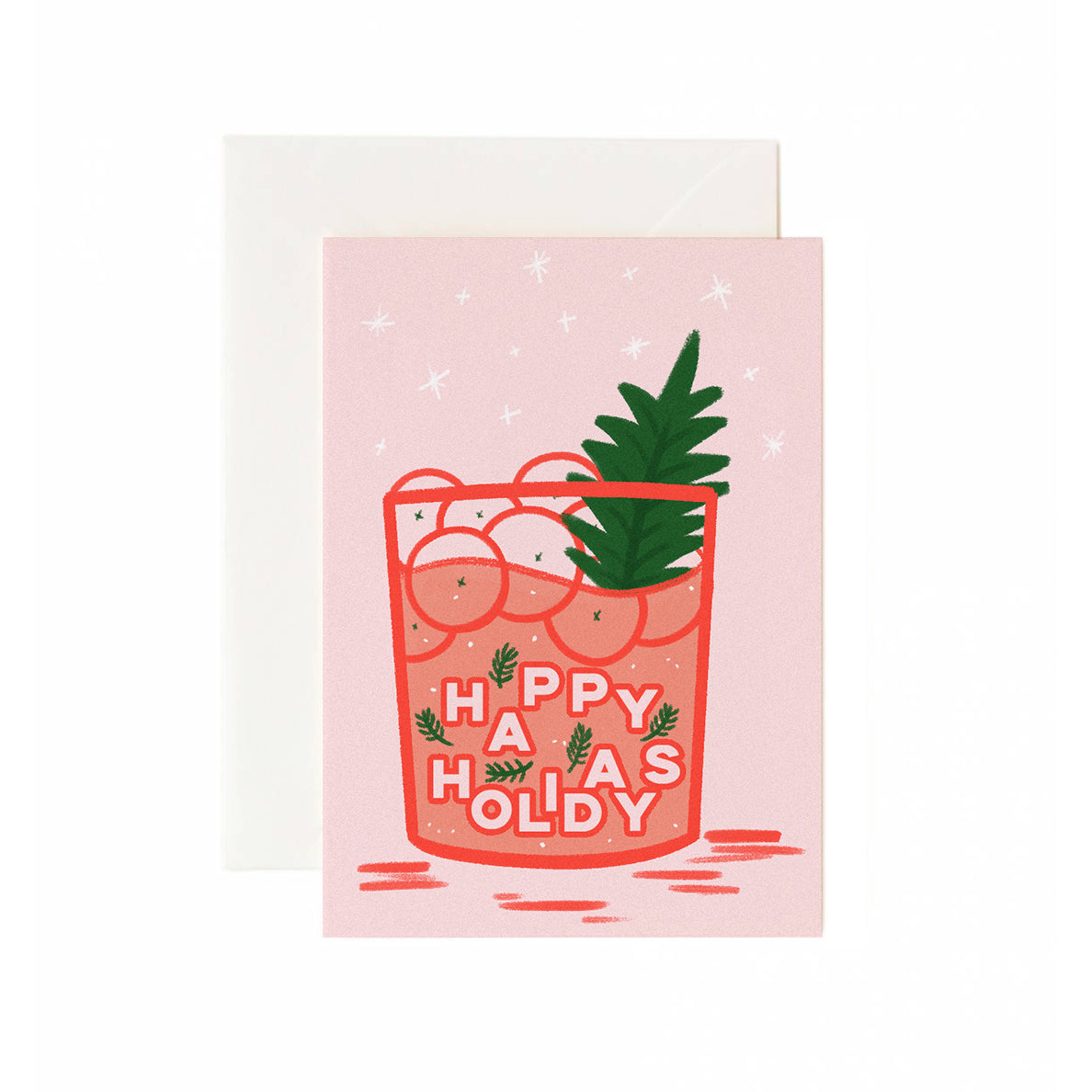 Cranberry Drink Holiday Card