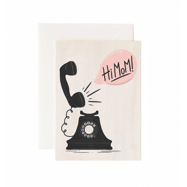 Hi Mom Phone Greeting Card