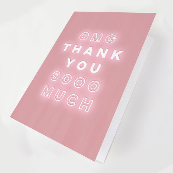 OMG Thank You Greeting Card