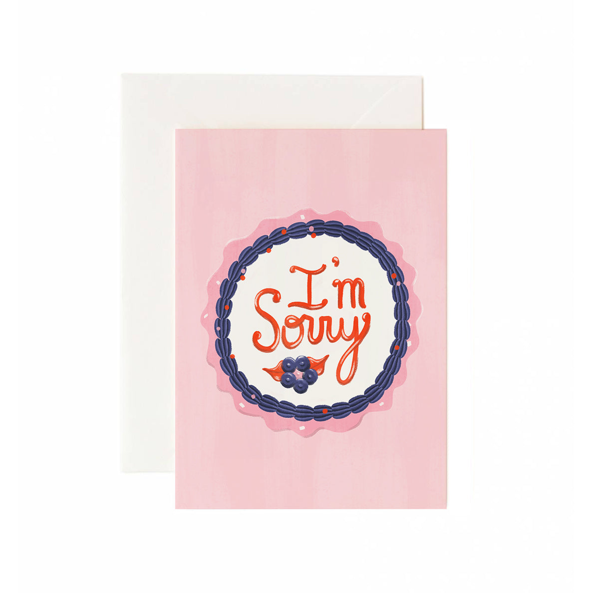 I'm Sorry Cake Greeting Card