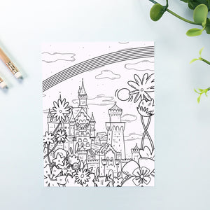 Germany Castle Coloring Sheet