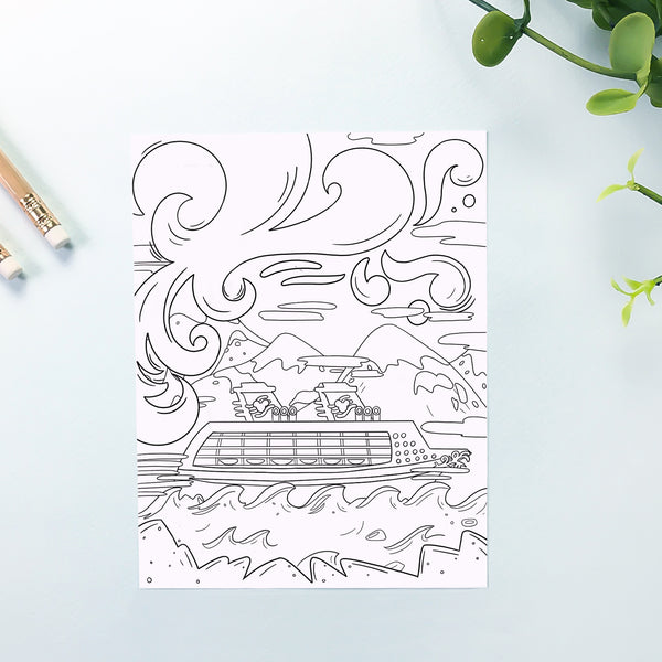 Cruise Coloring Sheet