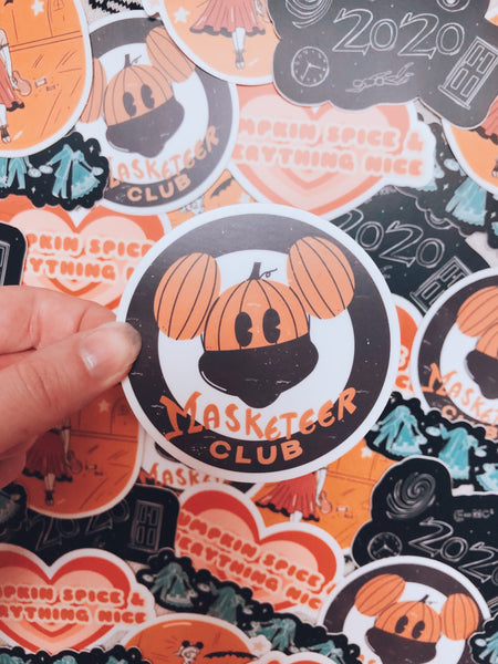 Halloween Masketeer Sticker