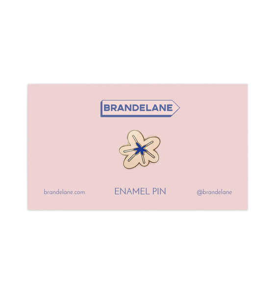 Cream Flower Enamel Pin