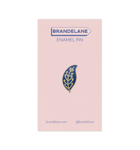 Small Blue Leaf Enamel Pin