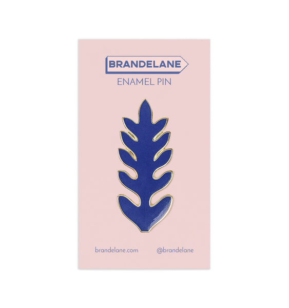 Blue Leaf Enamel Pin