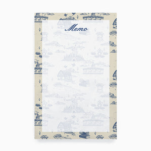 Fantasyland French Toile Memo Notepad