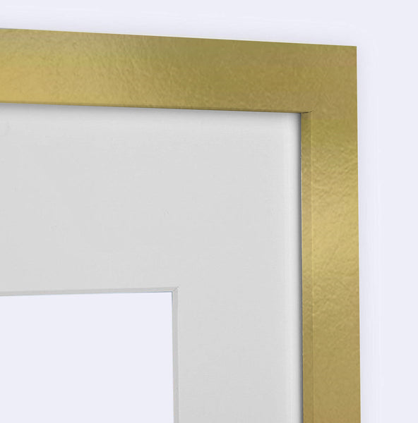 Gold Square Wood Frame