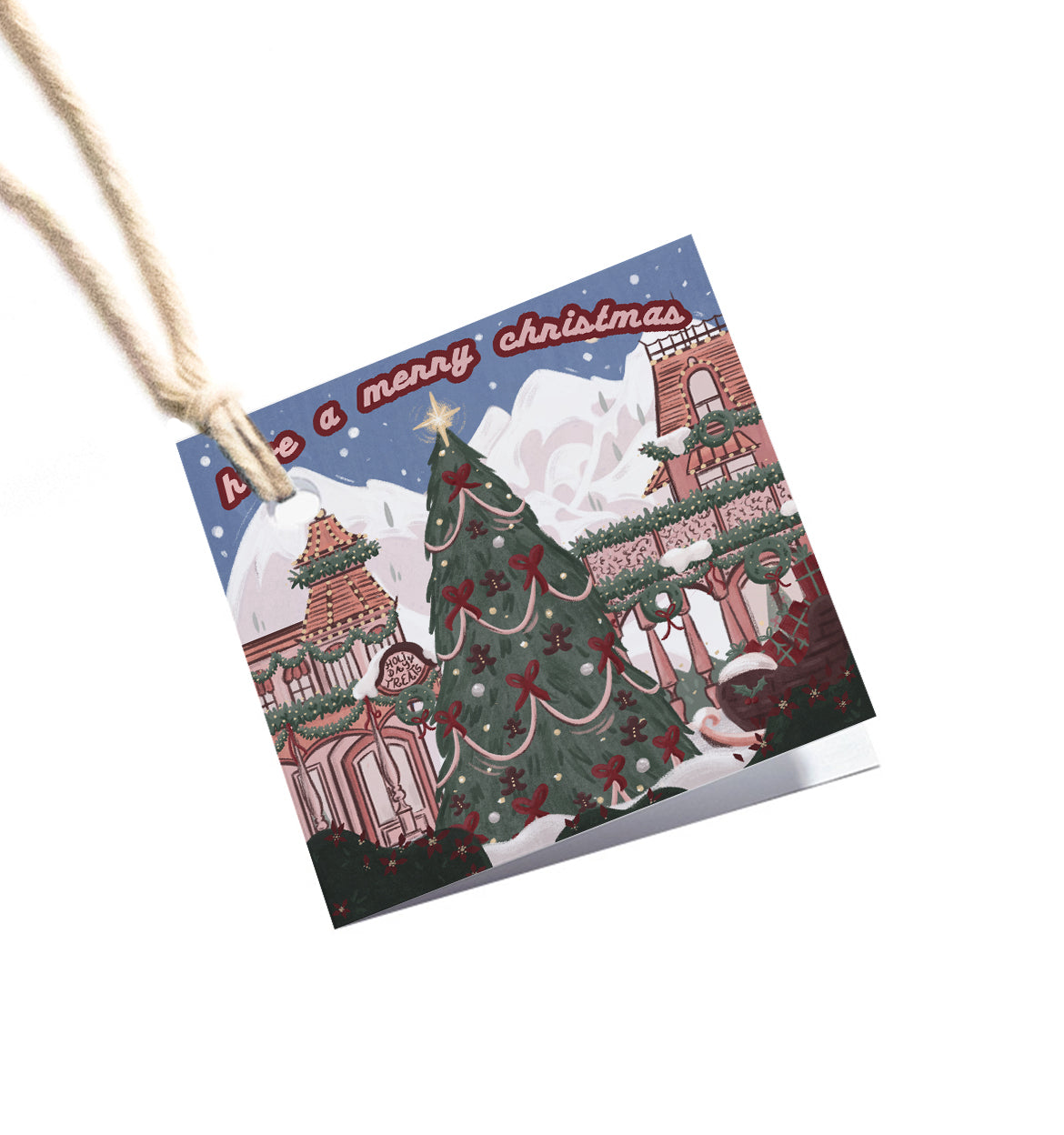 Main Street Holiday Gift Tag