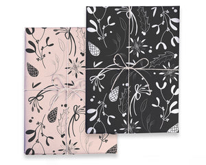 Double Sided Floral Gift Wrap
