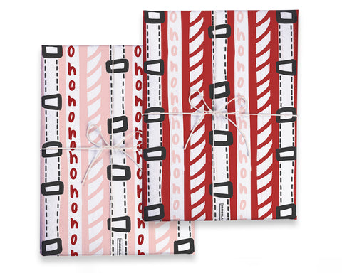 Double Sided Santa Gift Wrap