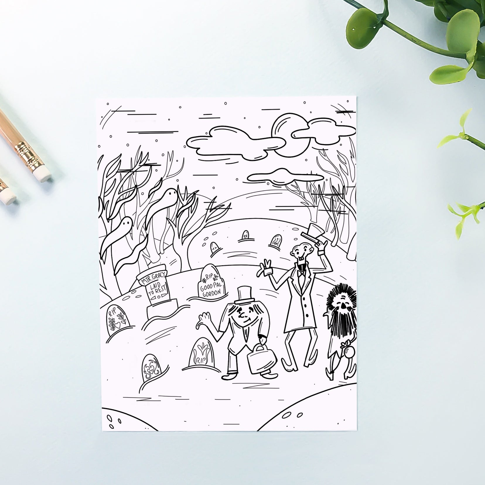 Haunted Coloring Sheet